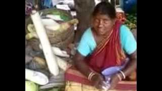 Mulla aunty selling vegetables in market