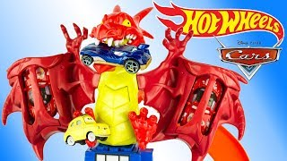 Hot Wheels Piste Attaque Dragon Disney Cars Jouet Dragon Attack Track Set Toy Review Juguetes