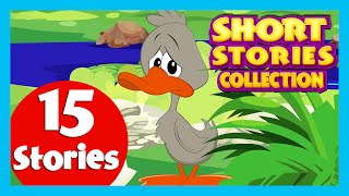 SHORT STORY for CHILDREN (15 Moral Stories) | Hare and Tortoise Story & more