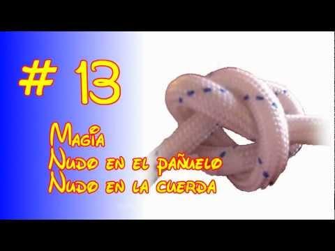 5 trucos de magia nudo falso en el pañuelo y la cuerda fácil