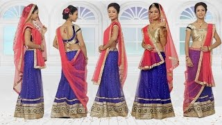 How to Wear Lehenga with new Style of Dupatta Draping new