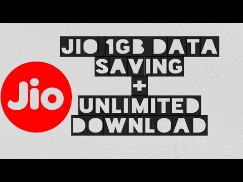 Jio 1GB data savings + Unlimited Dowanload   real tricks   Hindi