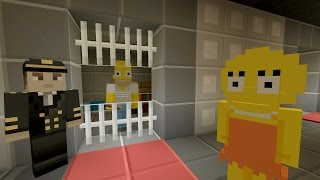Minecraft Xbox - The Simpsons Series - HOMER GETS ARRESTED [2]