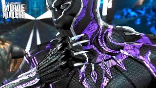BLACK PANTHER   Hyperloop Fight Clip + Bonus Featurette for Marvel Superhero Movie
