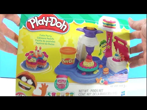 Unboxing Play-Doh Cake Party Play Set by Play-Doh Features Confetti Compound