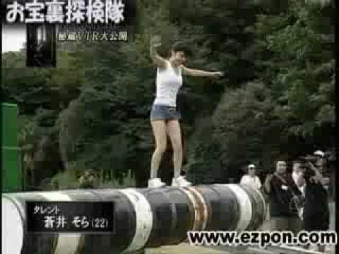 Aoi Sora on Ninja Warrior