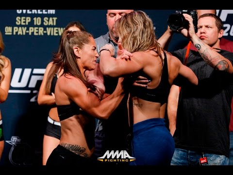 UFC 203 Weigh-Ins: Jessica Eye Shoves Bethe Correia