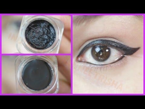 How to make kajal or gel liner at home- Smudge Free, Waterproof, Long Lasting, Dark Black