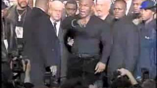 Mike Tyson Flips out at Tyson-Lewis Press Conference Jan 22,