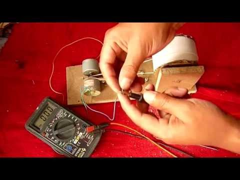 Cómo Hacer un Generador de Electricidad muy fácil de hacer