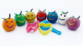 Play and Learn Colours with Playdough Apples Smiley Face Fun and Creative for Kids