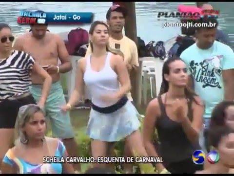 Sheila Carvalho no esquenta Carnaval de Jataí