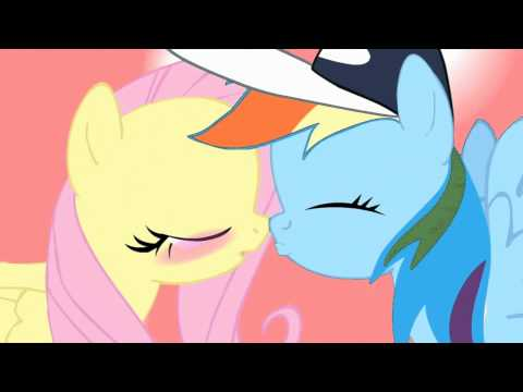 My Little Pony - Rainbow Dash and Fluttershy Kiss
