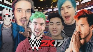 DanTDM vs Jacksepticeye vs Markiplier vs Ricegum vs H20 Delirious vs Pewdiepie | WWE 2K17
