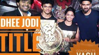 Dhee jodi title winners    yash &team