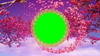 Ring Flower 4K Background | Chroma key with green screen Wedding background