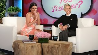 Lea Michele Plays Who'd You Rather?