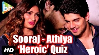 Talking Films Quiz With Sooraj Pancholi And Athiya Shetty
