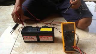 Rangkaian seri dan paralel baterai 12V
