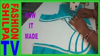 How to make Designer  Blouse at Home-38||Designer Bridal Back Neck Blouse Pattern - 2017||stitching