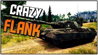 THE CRAZY FLANK (War Thunder Tank Gameplay)