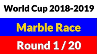 World Cup 2018-2019 Marble Race  - Round 1