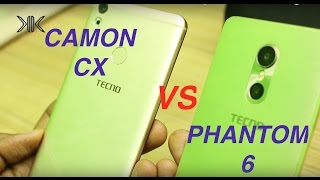 TECNO Camon CX vs Phantom 6: Speed Test, Benchmarking Scores, Camera and Gaming Comparison