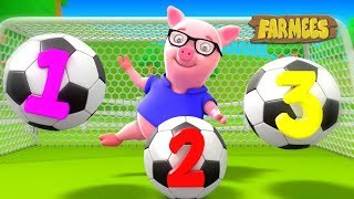 123 Soccer Song | Learning Video For Babies by Farmees