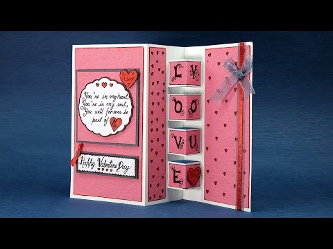 Pop Up Love Card - Happy Valentine's Day Card Step By Step Tutorial