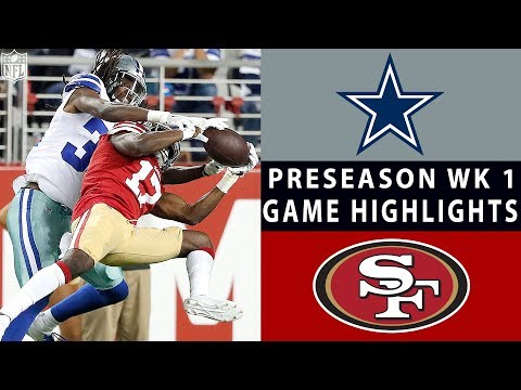Xxx Mp4 Cowboys Vs 49ers Highlights NFL 2018 Preseason Week 1 3gp Sex