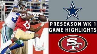 Cowboys vs. 49ers Highlights   NFL 2018 Preseason Week 1