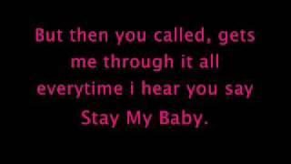 Stay my Baby Lyrics - Miranda Cosgrove x