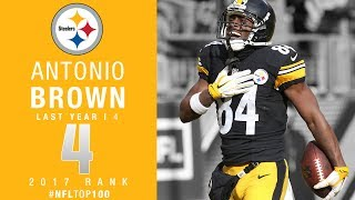 #4: Antonio Brown (WR, Steelers) | Top 100 Players of 2017 | NFL