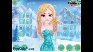 Frozen Elsa Presenting Feather Chain Braids Game Video-Frozen Games-Girls Games Online