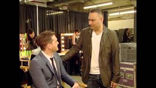 Russell Peters and Michael Bublé Backstage at The 2009 JUNO Awards