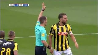VAR confusion - Referee cancels Feyenoord goal to give Vitesse a penalty!!!