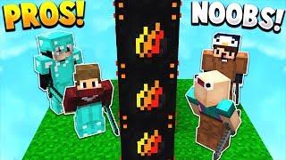 NOOBS vs PROS! | PRESTONPLAYZ LUCKY BLOCK WALLS! - Minecraft Mods