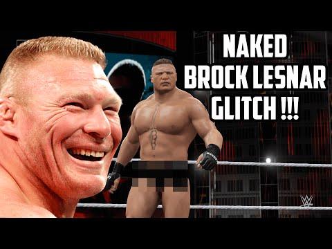 NAKED Brock Lesnar Glitch - WWE 2K16 Glitches