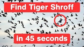 Find Tiger Shroff in 45 seconds - A Flying Jatt Challenge - Optical Illusion