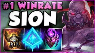 WTF?? #1 WINRATE IN TOP! GLACIAL AUGMENT SION SO OP! SION SEASON 8 TOP GAMEPLAY! - League of Legends