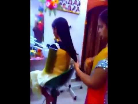 Indian college girl hair cut