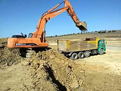 Excavator kamyon hafriyat daewoo çalışmaları
