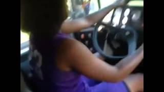 Girls steal school bus