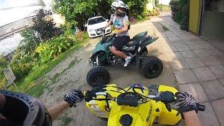 ATV vs Traffic | Quad vs Korek | Quady Suzuki LTZ 400 Z400 | jazda quadami zakorkowana ulica droga