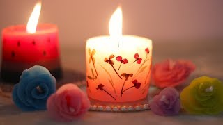 दिवाली में घर की सजावट के लिए कैंडल | 3 Scented DIY Candles without molds | कैंडल मेकिंग घर पर
