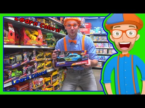 Learn Colors with Blippi Toy Store in 4K Educational videos for Preschoolers