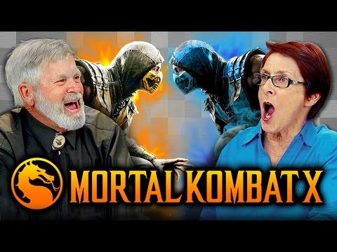 ELDERS PLAY MORTAL KOMBAT X Elders React Gaming