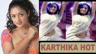 Mallu Actress Karthika Hottest Hip shake a Deep navel show in saree 1080p