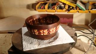 Walnut inlay bowl