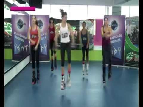Kangoo Jumps Sibiu 24FIT emisiune Digi Sport Gimnastica de dimineata